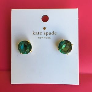 kate spade ♠️ earrings - striking green